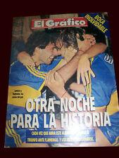 SOCCER BOCA JRS 3 vs FLAMENGO 0 SUPERCUP 1999 - El Grafico magazine
