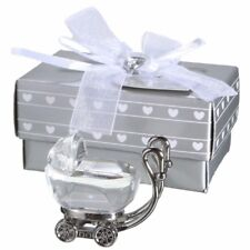 Crystal Baby Carriage Christening Favor Kids Birthday Gifts Baby Favors Shower