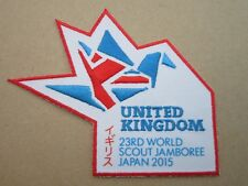 United Kingdom 23rd WSJ Japan 2015 Cloth Patch Badge Boy Scouts Scouting L7K