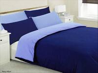 Reversible Blue Duvet Cover Set Quilt Cover Bedding Set Single Double King Size