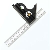 150mm Combination Square With Aluminium Blade - Fisher F411me 6in English