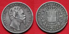 MONETA COIN VITTORIO EMANUELE II° RE ELETTO UNA LIRA 1860 (MANO CON SCETTRO)