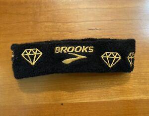 Unisex Adults Brooks Running Black Gold Diamonds Headband