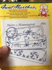 Aunt Marthas Hearts And Hummingbirds 3880 Hot Iron Transfers
