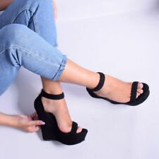 Unbranded Faux Suede Upper Material Standard Width (D) Heels for Women