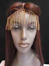 New Unique Women Gold Long Front Fringes Metal Head Chains Hot Fashion Jewelry