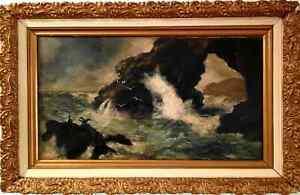Rare 1800s Oil Painting by Issac Walter Jenner (Early Australian Settler)