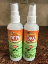 OFF! Botanicals Insect Repellent Spray Deet Free Plant Based 2 Bottles 4 Fl Oz
