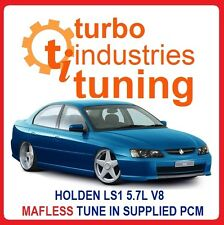 LS1 5.7L V8 MAFLESS TUNE COMMODORE VT VX VY VZ GENIII 300KW MAIL ORDER IN PCM SS