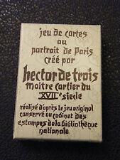 Jeu de Cartes à jouer Au portrait de Paris Hector de Trois