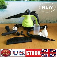 Electric Steam Cleaner Portable Hand Held Powerful Steamer Cleaning Set GREEN
