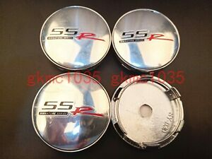 4x60mm Silver SSR Wheel Center Cap Badge Hub Cover Emblem Sticker For Chevrolet