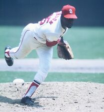1968 BOB GIBSON St. Louis Cardinals BASEBALL ACTION Glossy Photo 8x10 PICTURE