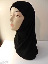 Amira Value Black 2 Piece Plain Hijab Muslim Head Wear Cover Women Scarf Cap