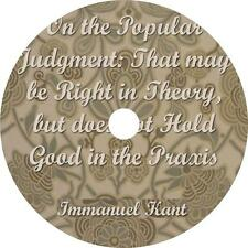 On the Popular Judgment, Immanuel Kant Moral Theory Audiobook on 3 Audio CDs