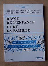 droit de l'enfance et de la famille, protection de l'enfance dans la C.E.
