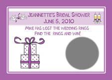 48  Bridal Shower Scratch off Cards PURPLE GIFT DESIGN