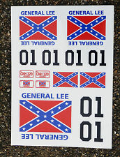 RC General Lee stickers decals 1/18 losi mini xray hpi