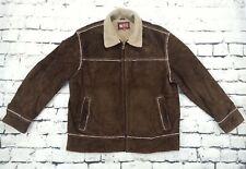 WILSONS LEATHER COAT Suade Sherpa Shearling Ranch Marlboro Man Jacket MENS XL