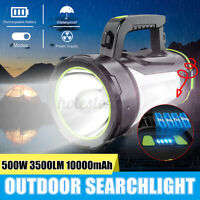 10000MAh LED Searchlight Spotlight USB Rechargeable Hand Torch Work Light  */!