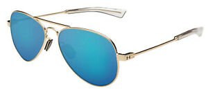 New $135 Under Armour UA Getaway Aviator Sunglasses Rose Gold Blue