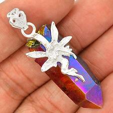 Fairy - Titanum Aura Quartz 925 Sterling Silver Pendant Jewelry SP219273