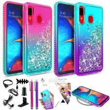 For Samsung Galaxy A50 A20 A30 Liquid Glitter Bling Case Tpu Cover / Accessories
