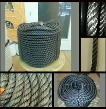 Cordage corde tressée polyéthylène 8mm x 200mts fonds amarrage chicote grappin
