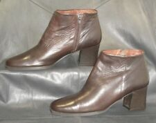 Nickels soft brown leather zip up ankle boots Women's shoes size 8 1/2 M