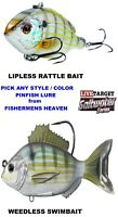 Live Target Pinfish Saltwater Lures Any Lipless Rattle Bait or Soft Swimbait