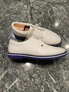 G/Fore Men's Golf Shoes The Gallivanter White W/ Purple Sole Size 11 Spike less