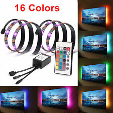 2PCS 50cm USB LED Strip Light 5V RGB LED Mood Lighting + Remote for TV HDTV PC