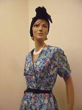 Schönes Kleid True Vintage 50er Jahre 44 46 Blumen