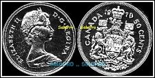 CANADA 1970 CANADIAN HALF DOLLAR COAT OF ARMS QUEEN RARE 50 CENT COIN