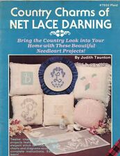 Plaid 7833 Country Charms of NET LACE DARNING 12 Home Decor Projects to Make