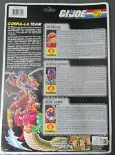 "COBRA-LA TEAM 1987 CARDBACK Uncut FILE CARDS GI Joe ARAH 3.75"" Nemesis Golobulus"