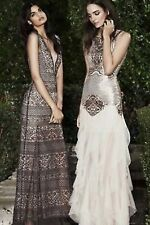 NWT BCBG MAXAZRIA MAGDALENA GOLD SEQUIN GOWN LONG PROM DRESS SZ XS NEW $712