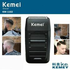 Kemei KM-1102 Rechargeable Cordless Shaver for Men Twin Blade Reciprocating