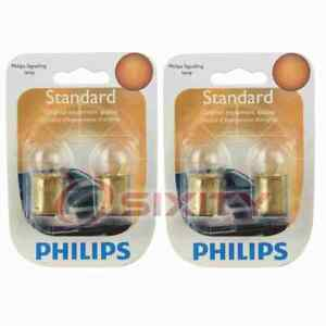 2 pc Philips License Plate Light Bulbs for Fiat 124 128 Brava Strada X-1 9 om