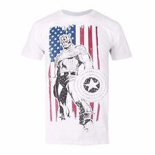 Mens Marvel Captain America Vertical tshirt