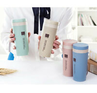 300ML HOT Travel Mug Office Coffee Tea Water Bottle Cups Straw Wheat Plastlc Cup