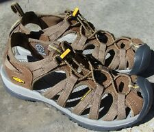 KEEN Whisper Sport Sandals 1003713 BR Coffee Liqueur/yellow 9 M See Photo