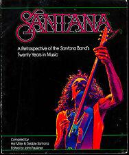 1987-88 Carlos Santana Band 20 Years Retrospective Program Book Amazing Photos
