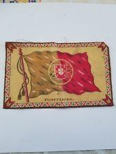 Vintage and Rare early 1900s Cigar Box Felt silk flag, Portugal