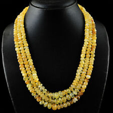 Genuine Yellow Citrine necklace with 18 kt (750/1000) gold Clasp, length 50 cm