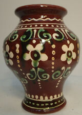 Unique Hand Crafted Hand Painted Pottery Vase