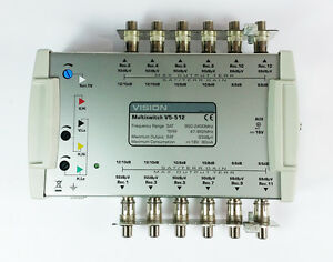 New Aerial Vision V5-512 Multiswitch TV coax coaxial Satellite UK Seller