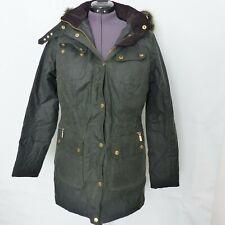 Barbour International Mallory Wax Jacket Sage UK 14 Euro 40 US 10
