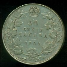 1929 Canada, King George V, Silver Fifty Cent Piece   L233