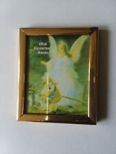 """Our Guardian Angel Magnet Mini Frame 2"""" x 2 1/2"""" Gold Tone Frame"""